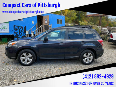 2014 Subaru Forester for sale at Compact Cars of Pittsburgh in Pittsburgh PA