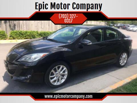 2012 Mazda MAZDA3 for sale at Epic Motor Company in Chantilly VA