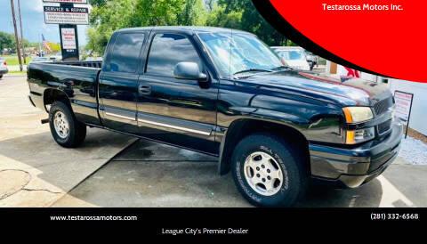 2004 Chevrolet Silverado 1500 for sale at Testarossa Motors Inc. in League City TX