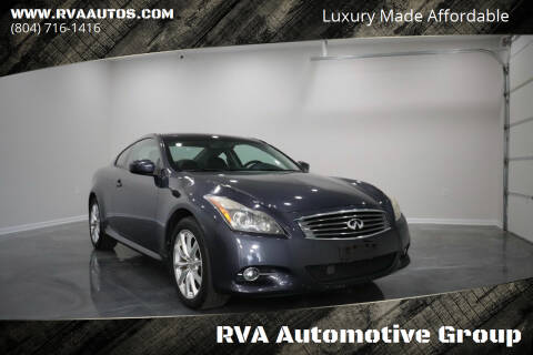 2011 Infiniti G37 Coupe for sale at RVA Automotive Group in North Chesterfield VA