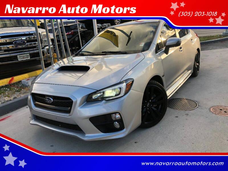 2015 Subaru WRX for sale at Navarro Auto Motors in Hialeah FL