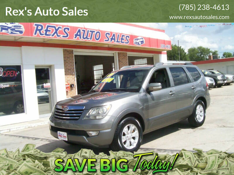 2009 Kia Borrego for sale at Rex's Auto Sales in Junction City KS