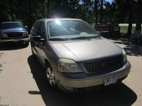 2005 Ford Freestar for sale at SUNNYBROOK USED CARS in Menahga MN