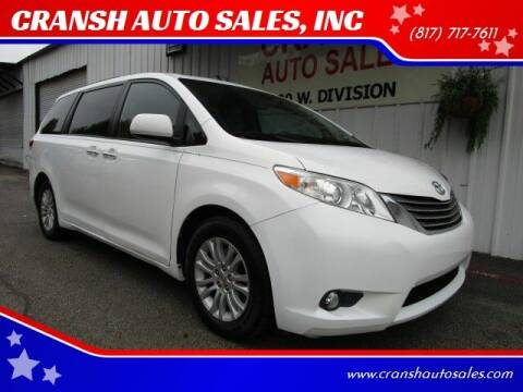 2011 Toyota Sienna for sale at CRANSH AUTO SALES, INC in Arlington TX