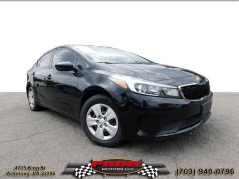 2017 Kia Forte for sale at PRIME MOTORS LLC in Arlington VA