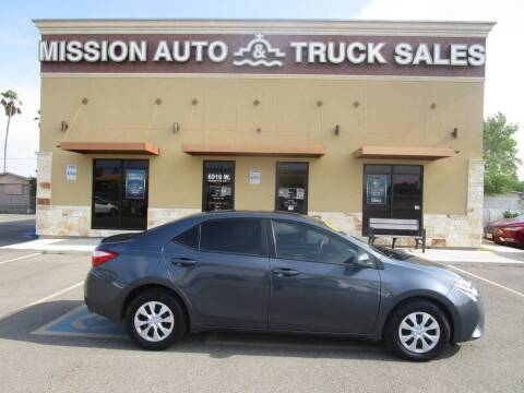 2015 Toyota Corolla for sale at Mission Auto & Truck Sales, Inc. in Mission TX