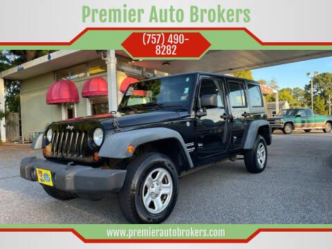 2012 Jeep Wrangler Unlimited for sale at Premier Auto Brokers in Virginia Beach VA