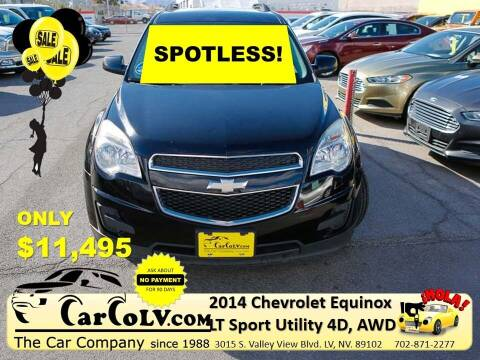 2014 Chevrolet Equinox for sale at The Car Company in Las Vegas NV