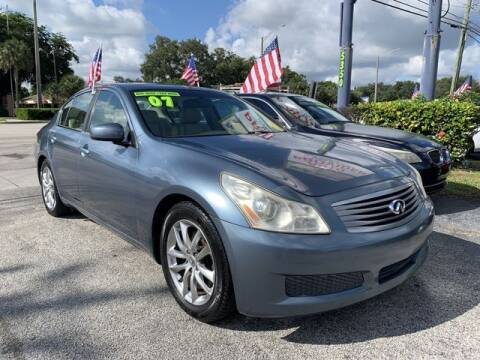 2007 Infiniti G35 for sale at AUTO PROVIDER in Fort Lauderdale FL