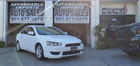 2009 Mitsubishi Lancer for sale at Affordable Imports Auto Sales in Murrieta CA