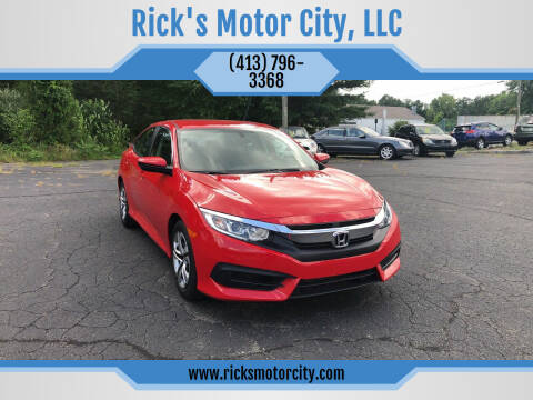 2016 Honda Civic for sale at Rick's Motor City, LLC in Springfield MA