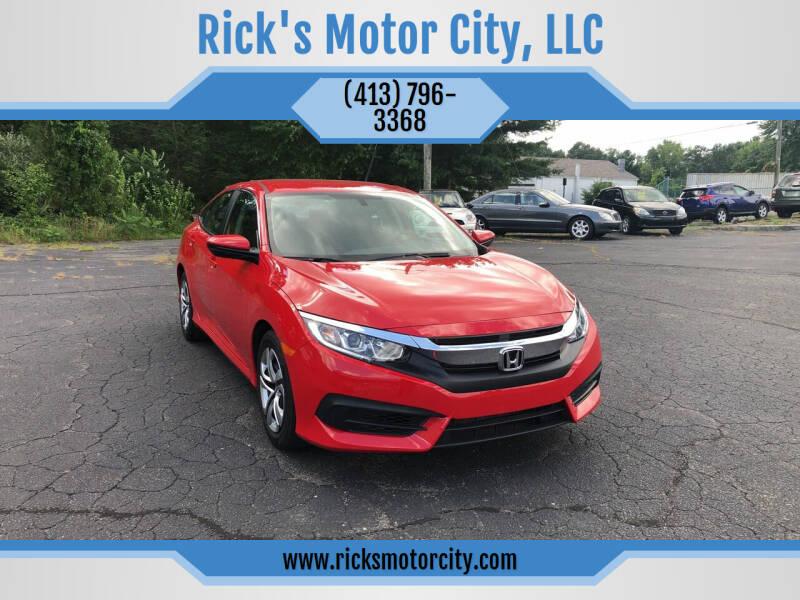 2016 Honda Civic for sale at Rick's Motor City, LLC in Springfield MA