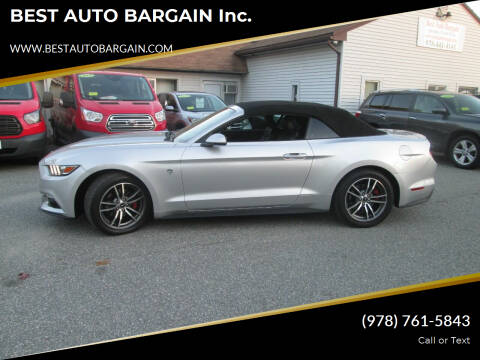 2016 Ford Mustang for sale at BEST AUTO BARGAIN inc. in Lowell MA
