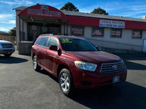 2008 Toyota Highlander for sale at Choice Motors of Salt Lake City in West Valley  City UT