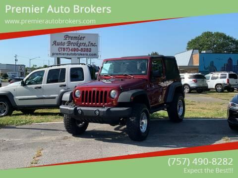 2012 Jeep Wrangler for sale at Premier Auto Brokers in Virginia Beach VA