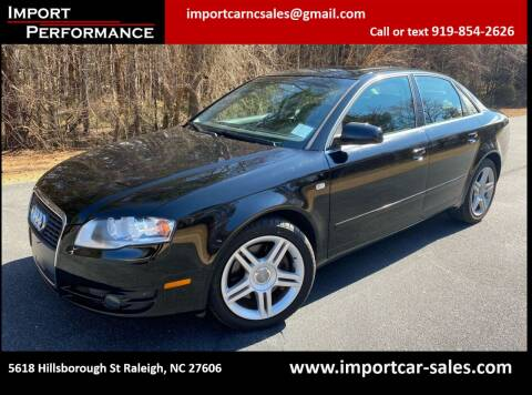 2007 Audi A4 for sale at Import Performance Sales in Raleigh NC