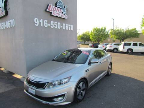 2012 Kia Optima Hybrid for sale at LIONS AUTO SALES in Sacramento CA