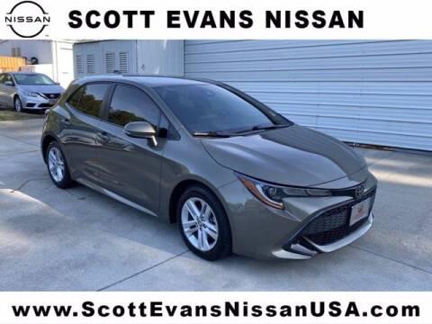 2019 Toyota Corolla Hatchback for sale at Scott Evans Nissan in Carrollton GA