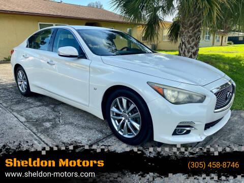 2014 Infiniti Q50 for sale at Sheldon Motors in Tampa FL