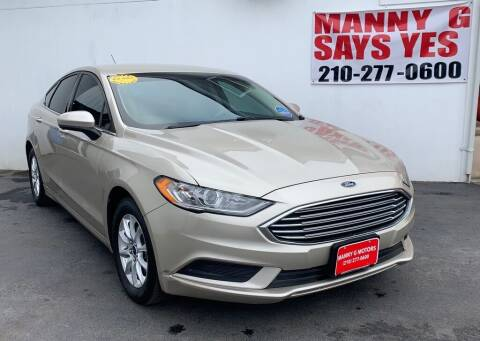 2017 Ford Fusion for sale at Manny G Motors in San Antonio TX