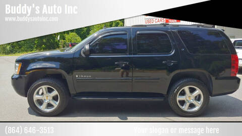 2007 Chevrolet Tahoe for sale at Buddy's Auto Inc in Pendleton SC