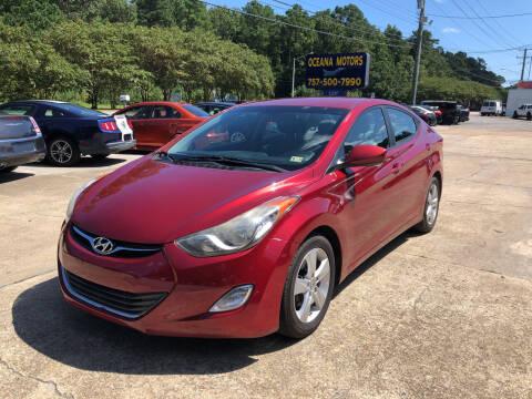 2013 Hyundai Elantra for sale at Oceana Motors in Virginia Beach VA