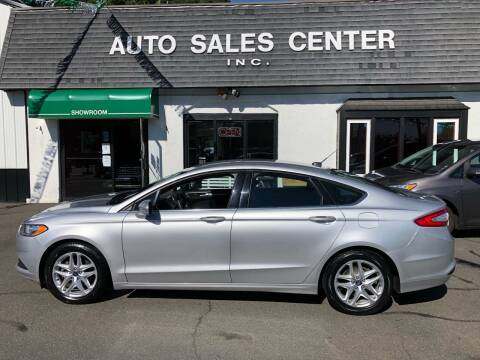 2013 Ford Fusion for sale at Auto Sales Center Inc in Holyoke MA