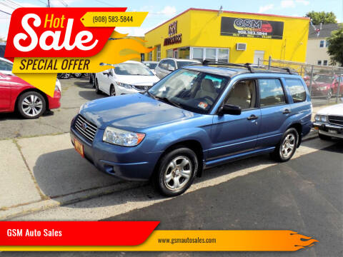 2007 Subaru Forester for sale at GSM Auto Sales in Linden NJ