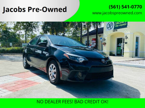 2016 Toyota Corolla for sale at Jacobs Pre-Owned in Lake Worth FL