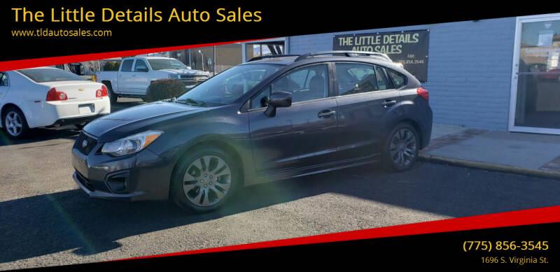 2012 Subaru Impreza for sale at The Little Details Auto Sales in Reno NV