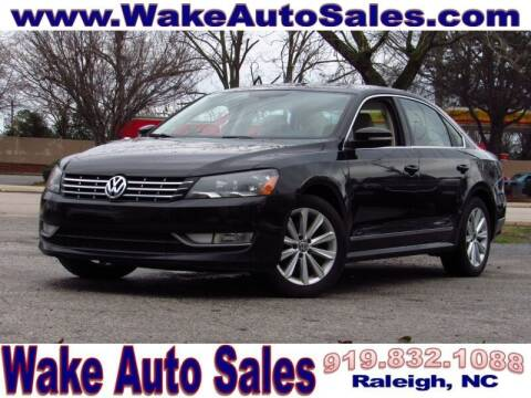 2013 Volkswagen Passat for sale at Wake Auto Sales Inc in Raleigh NC