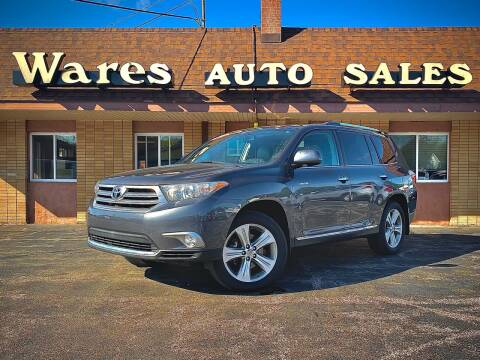 2012 Toyota Highlander for sale at Wares Auto Sales INC in Traverse City MI