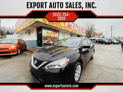 2019 Nissan Sentra for sale at EXPORT AUTO SALES, INC. in Nashville TN