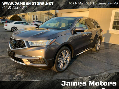 2018 Acura MDX for sale at James Motors Inc. in East Longmeadow MA