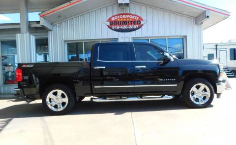 2015 Chevrolet Silverado 1500 for sale at Motorsports Unlimited in McAlester OK