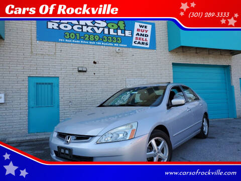 2005 Honda Accord for sale at Cars Of Rockville in Rockville MD