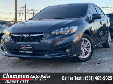 2017 Subaru Impreza for sale at CHAMPION AUTO SALES OF JERSEY CITY in Jersey City NJ