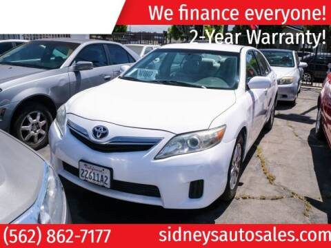 2010 Toyota Camry Hybrid for sale at Sidney Auto Sales in Downey CA
