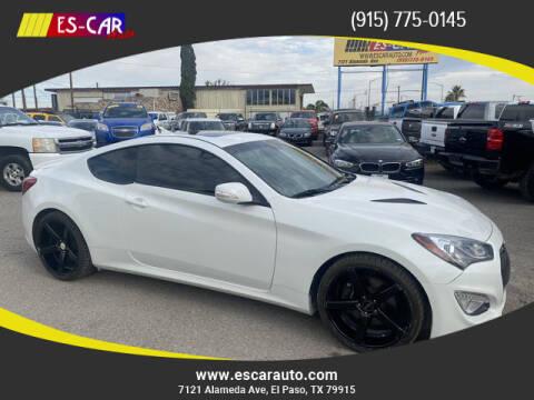2013 Hyundai Genesis Coupe for sale at Escar Auto in El Paso TX