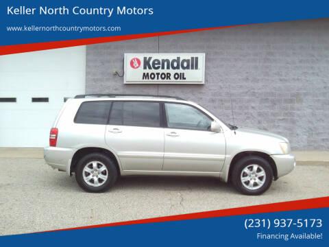 2003 Toyota Highlander for sale at Keller North Country Motors in Howard City MI