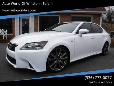 2014 Lexus GS 350 for sale at Auto World Of Winston - Salem in Winston Salem NC