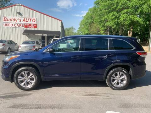 2015 Toyota Highlander for sale at Buddy's Auto Inc in Pendleton SC