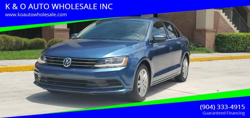 2017 Volkswagen Jetta for sale at K & O AUTO WHOLESALE INC in Jacksonville FL