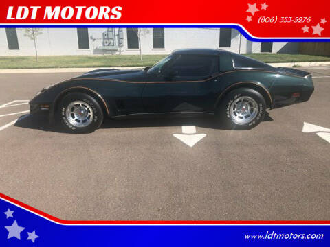 1980 Chevrolet Corvette for sale at LDT MOTORS in Amarillo TX