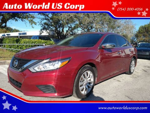 2016 Nissan Altima for sale at Auto World US Corp in Plantation FL