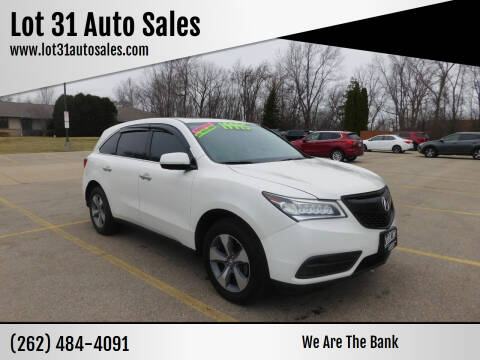 2014 Acura MDX for sale at Lot 31 Auto Sales in Kenosha WI