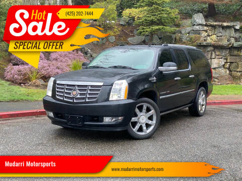 2011 Cadillac Escalade ESV for sale at Mudarri Motorsports in Kirkland WA