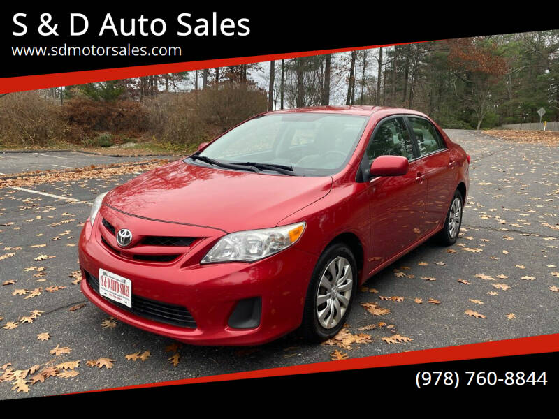2012 Toyota Corolla for sale at S & D Auto Sales in Maynard MA