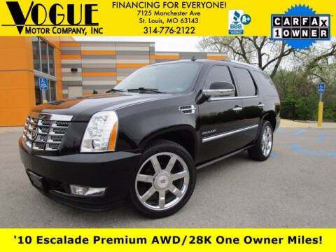 2010 Cadillac Escalade for sale at Vogue Motor Company Inc in Saint Louis MO