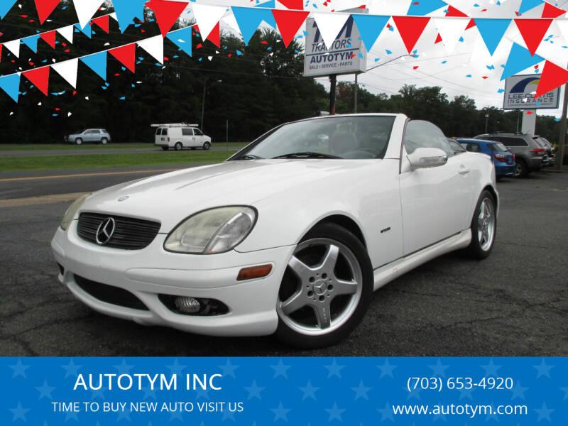 2003 Mercedes-Benz SLK for sale at AUTOTYM INC in Fredericksburg VA